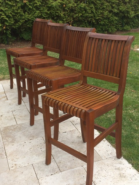Restoring Teak Wood Furniture ~ Teak furniture restoration modern boston by seal a deck