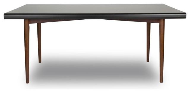 table fifties noyer juju 180x90 couleur noyer r tro table manger par. Black Bedroom Furniture Sets. Home Design Ideas