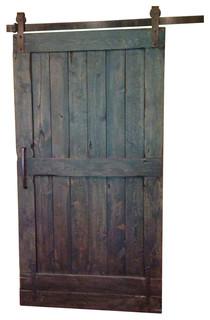 Rustic Sliding Barn Door, Espresso