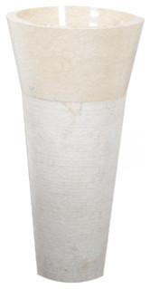 Vasque de salle de bain sur pied en marbre koni cream contemporary bathro - Vasque sur pied design ...