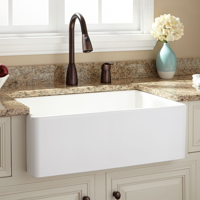 "30"" BALDWIN FIRECLAY FARMHOUSE SINK Kitchen Sinks by Signature Hardware"