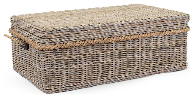 Sabrina basket storage coffee table modern coffee tables Coffee table baskets