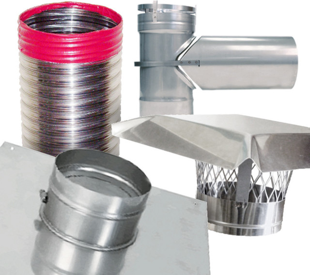 Rockflex Stainless Steel Smooth Wall Chimney Liner Tee Kit