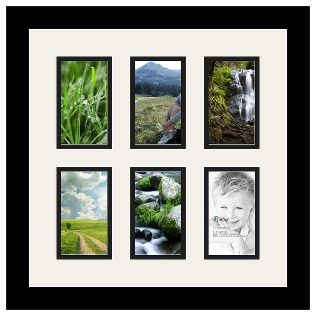 Arttoframes collage photo frame with 6 3x5 openings for Modern collage frame