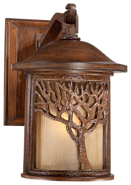 Bronze Mission Style Tree 12 1 4 High Outdoor Wall Light Craftsman Outdoor Lighting