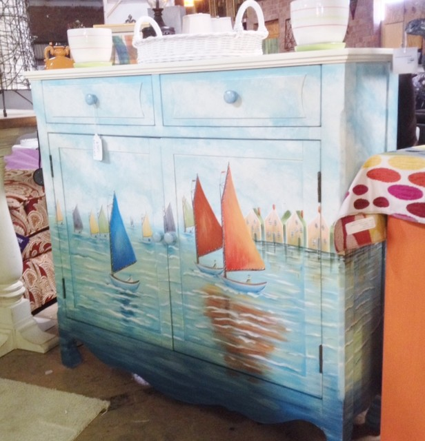 Beachy Hall Chest Beach Style Accent Chests And