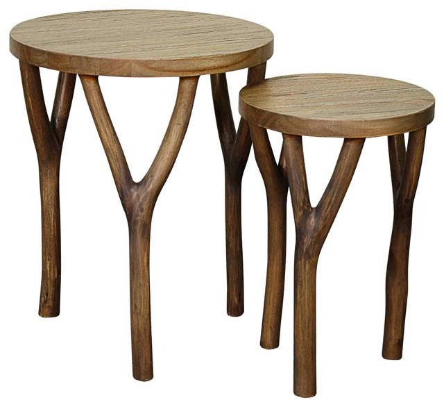 Rustic Side Table : Vera Nesting Table - Rustic - Side Tables And End Tables - by Sohomod