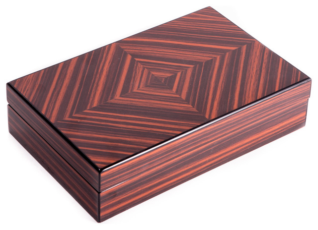 Lacquered Wood Box - Traditional - Decorative Boxes - by Bey-Berk ...
