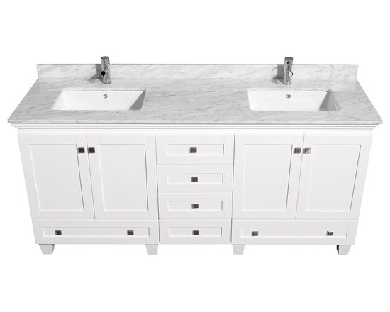 ... chrome hardware, resulting in a timeless piece of bathroom furniture