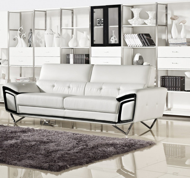 Kaya Modern White Eco Leather Sofa Sofas New York By Modern Sofa Beds