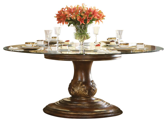 Gallery For Round Glass Dining Table Traditional