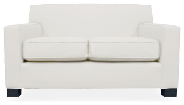 Ciara Linen Down Wrapped 60 Sofa White Linen