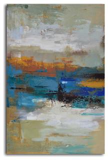Quot Winter Colors Through Tears Quot Hand Painted Canvas Art
