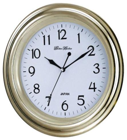 Gold Seiko Movement Wall Clock Gold Rim Modern Clocks
