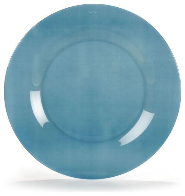 pop assiette plate en verre tremp bleue d25cm contemporain assiette par alin a mobilier. Black Bedroom Furniture Sets. Home Design Ideas