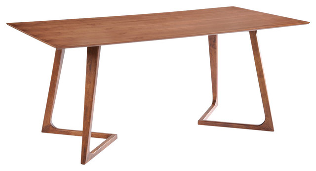 Modrest Jett Contemporary Walnut Dining Table Scandinavian Dining Tables
