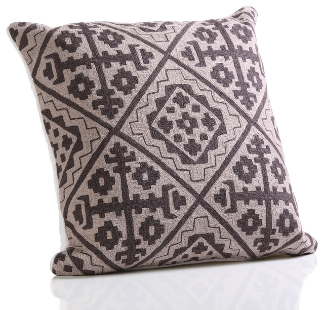 Traditional Throw Pillows : Hopi Cotton Throw Pillow - Traditional - Decorative Pillows - by Zodax