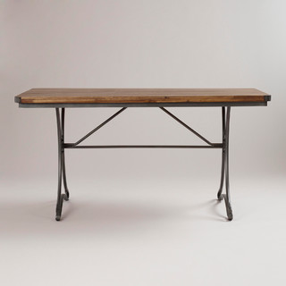 jackson rectangular table with metal base traditional