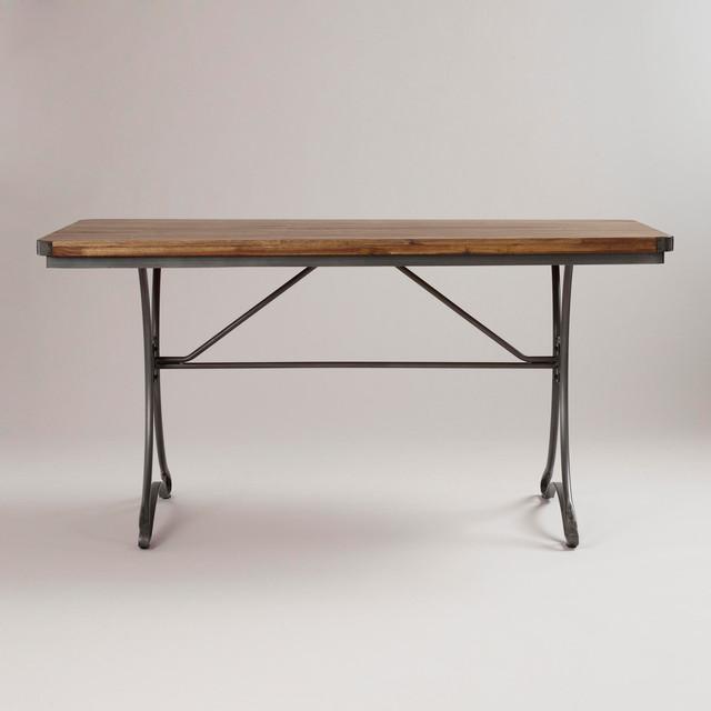 Jackson Rectangular Table With Metal Base Traditional
