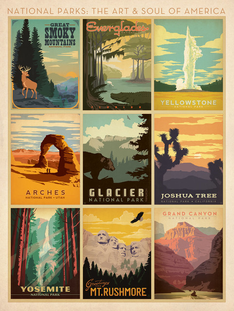 quotArt and Soul of Americaquot National Parks Art Print Multi  : midcentury prints and posters from www.houzz.com size 482 x 640 jpeg 139kB