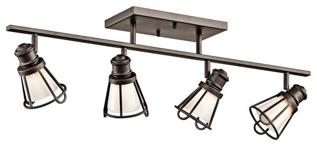 Yosemite Home Decor Vanity Lighting Family 4 Light Chrome: Kichler 7726OZ Rail Light 4Lt Halogen