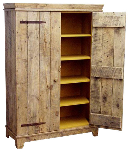 Rustic barnwood kitchen cabinet rustic accent chests and cabinets by ecofirstart - Rustic wooden kitchen cabinet ...