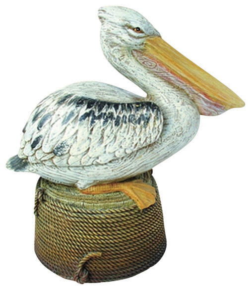 Pelican On Piling Beach Style Home Decor By Brass