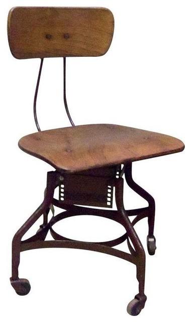 Antique toledo industrial desk chair chaise de bureau - Chaise de bureau antique ...