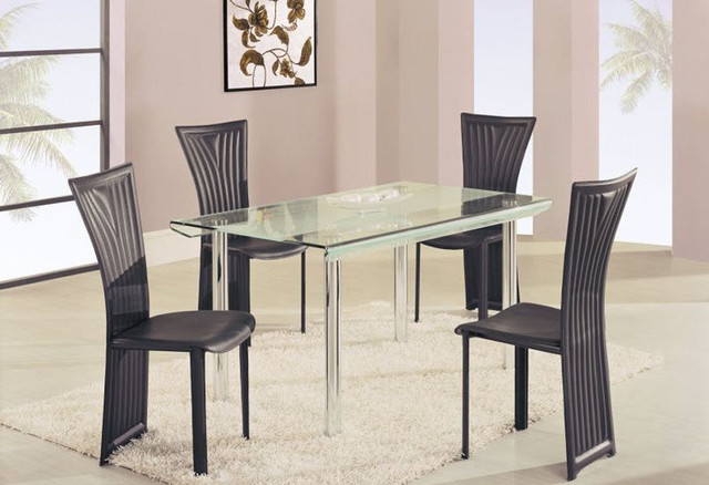 high class rectangular glass top dining furniture set modern dining tables charlotte by. Black Bedroom Furniture Sets. Home Design Ideas