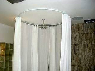 Circle Shower Rod Bendable Curtain Rod Transitional Shower Curtain Rods Indianapolis By