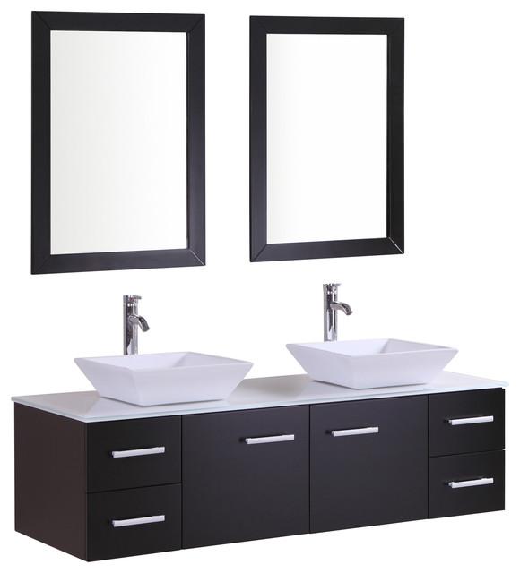 eviva amare 60 bathroom vanity espresso without mirrors