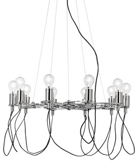 Possini euro chrome light bulb cluster chandelier for Possini lighting website