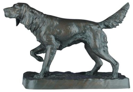 Sculpture Statue English Setter Dog Traditional