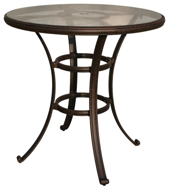 Darlee Glass Top Round Patio Bar Table DL50 F  : contemporary outdoor dining tables from houzz.com size 570 x 640 jpeg 42kB