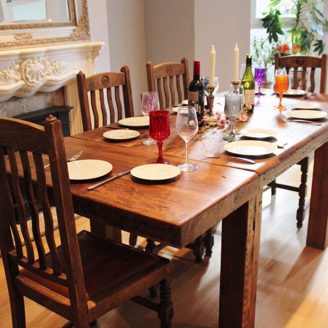 Farmhouse Extendable Reclaimed Wood Dining Table