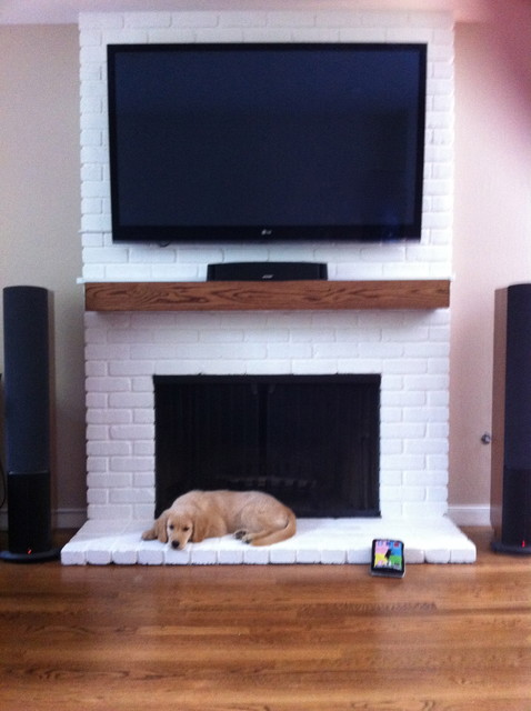 White Brick Fireplace - Traditional - San Francisco