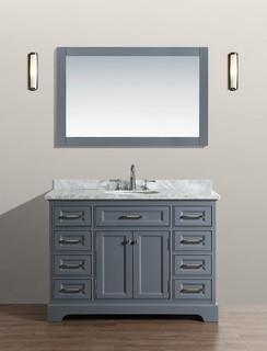 48 South Bay Bathroom Vanity Gray Bathroom Vanities And Sink Consoles Orange County By
