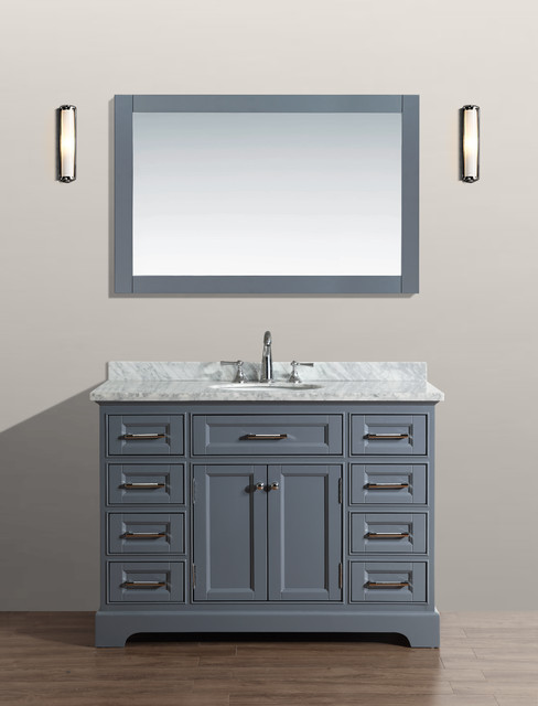 48 South Bay Bathroom Vanity Gray Bathroom Vanities And Sink Consoles Orange County By