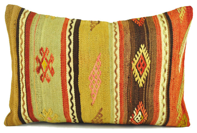 Southwestern Lumbar Pillow : Indoor Kilim Pillows- 16