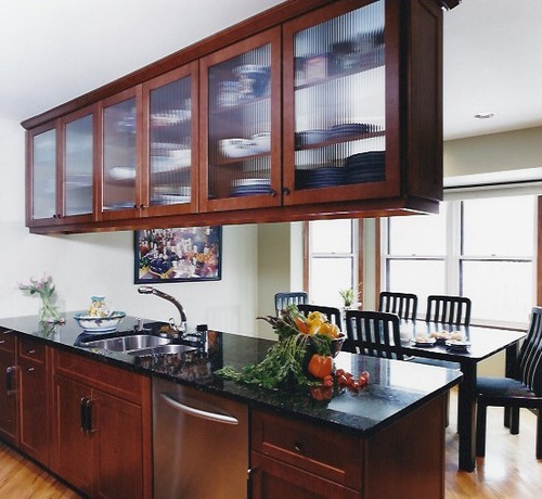 Overhead cabinets above island or peninsula for Overhead kitchen cabinets