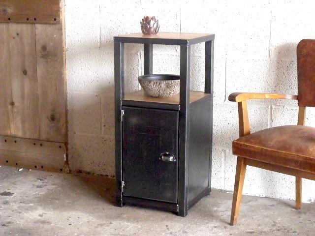 Meuble d 39 entr e bois m tal style industriel - Buffet bois metal industriel ...