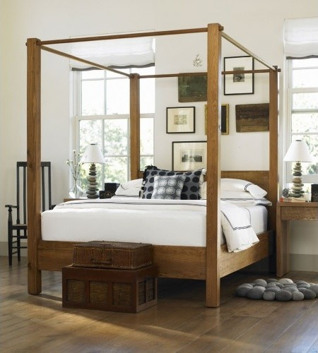 canopy bed light king with standard delivery 275 surcharge contemporary four poster. Black Bedroom Furniture Sets. Home Design Ideas