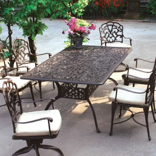 aluminum patio dining set seats 6 modern outdoor dining sets