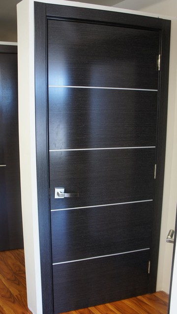 Avanti Modern Interior Door Black Apricot Finish