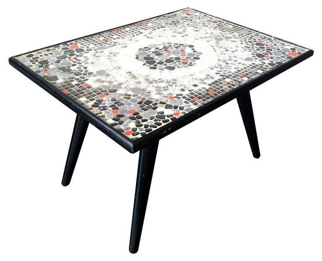 1950s Mosaic Tile Stone Cocktail Table Modern Coffee Tables By Chairish