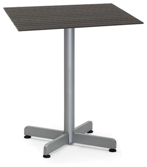 Outdoor Bistro Table Silver 24 X30 Contemporary Outdoor Pub