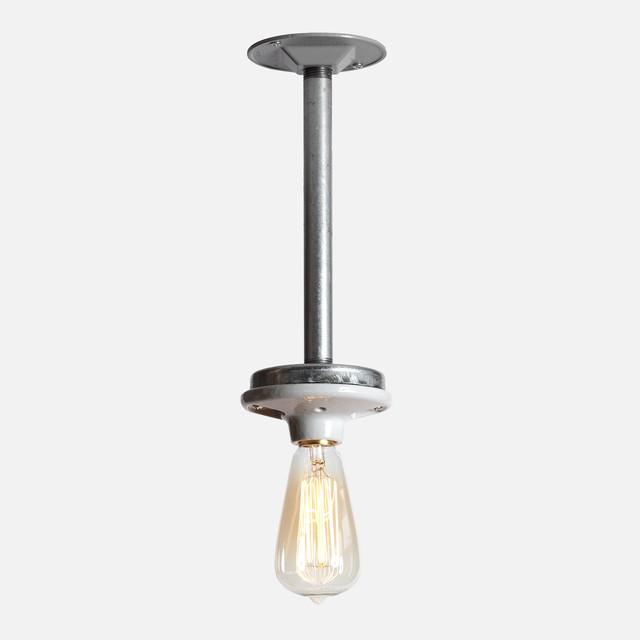 Industrial pendant pipe light modern pendant lighting for Pipe ceiling lighting