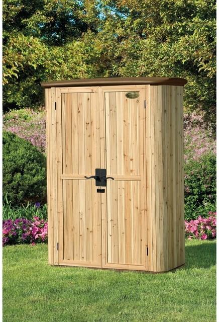 suncast wood resin vertical shed wrs4200 modern. Black Bedroom Furniture Sets. Home Design Ideas