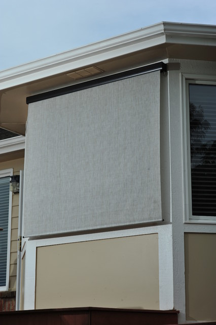 Exterior Solar Screen Shades With Crank Control Modern Roller Shades Phoenix By Blinds