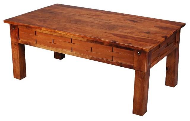 Santa Fe Rustic Wood Coffee Table Rustic Coffee Tables By Sierra Living Concepts